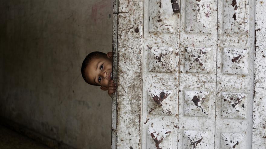 """El 89% de los padres de Gaza entrevistados por Savhe the Children afirma que sus hijos tienen """"miedo de forma constante""""./ Anas Baba/Save the Children."""