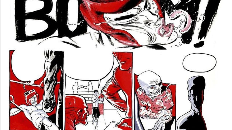 """""""El boxeador"""", un cómic que golpea fuerte antes de saber si se publicará"""