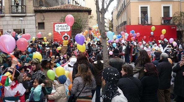 Punto de encuentro de los participantes en el desfile de carnaval | Foto: A.P