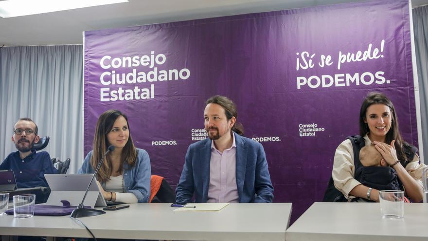 Iglesias elige a Irene Montero y Pablo Echenique para que encabecen su lista a la dirección para Vistalegre 3