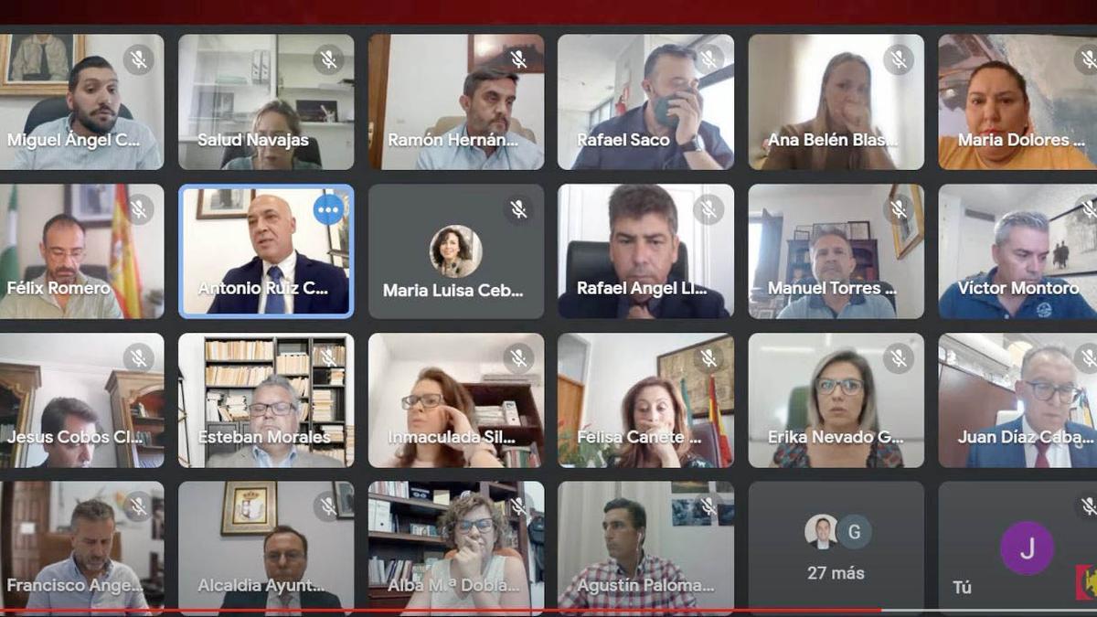 Pleno ordinario de la Diputación de Córdoba correspondiente al mes de agosto
