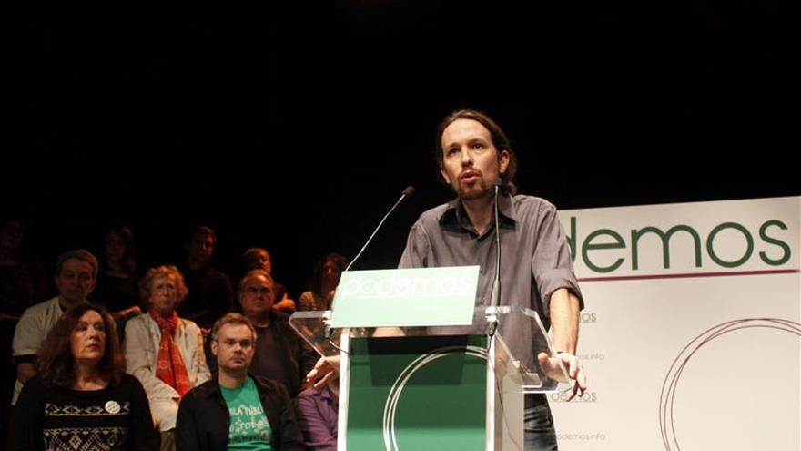 Pablo Iglesias, durante un mítin de la campaña electoral para las europeas / EFE