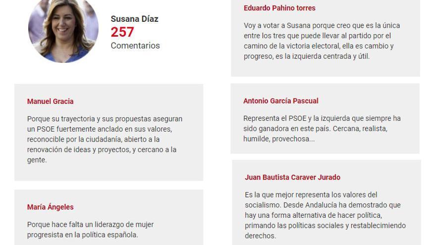 Comentarios de Susana Díaz