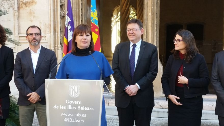 """Armengol y Puig apuestan por """"romper el status quo español"""" y hacer """"frente común"""" para mejorar la financiación"""