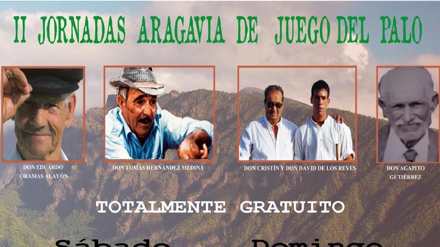 Cartel de las 'II Jornadas Aragavia de Juego del Palo' de El Paso