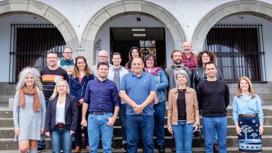 Integrantes de la plancha de Podemos en Los Realejos