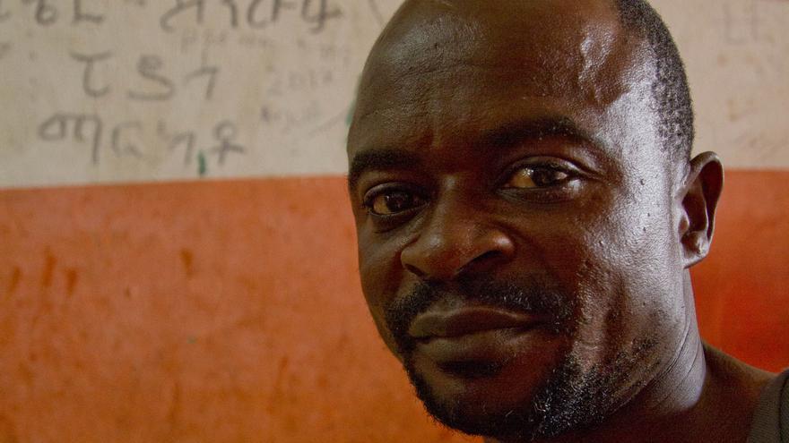 Paul, migrante de Congo varado en Tapachula en su intento de llegar a Canadá.
