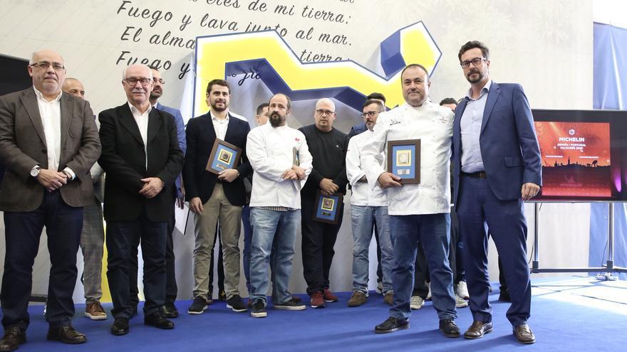 Homenaje a los cocineros y restaurantes de Gran Canaria que aparecen en la Guía Michelin 2020