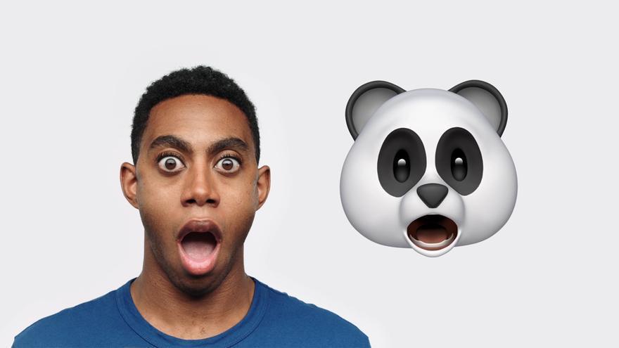 Los 'animojis' funcionan con el sistema de reconocimiento facial del iPhone X