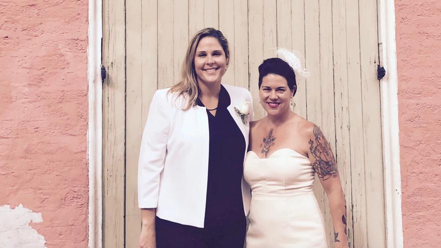 Nicole y Melissa decidieron adelantar su fecha de matrimonio cuando Trump ganó las elecciones.