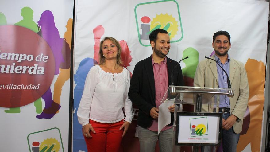 IU anuncia el apoyo a la candidatura del PSOE en el Ayuntamiento de Sevilla.