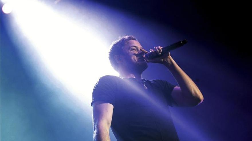 El líder de Imagine Dragons, Dan Reynolds, durante su concierto en Madrid
