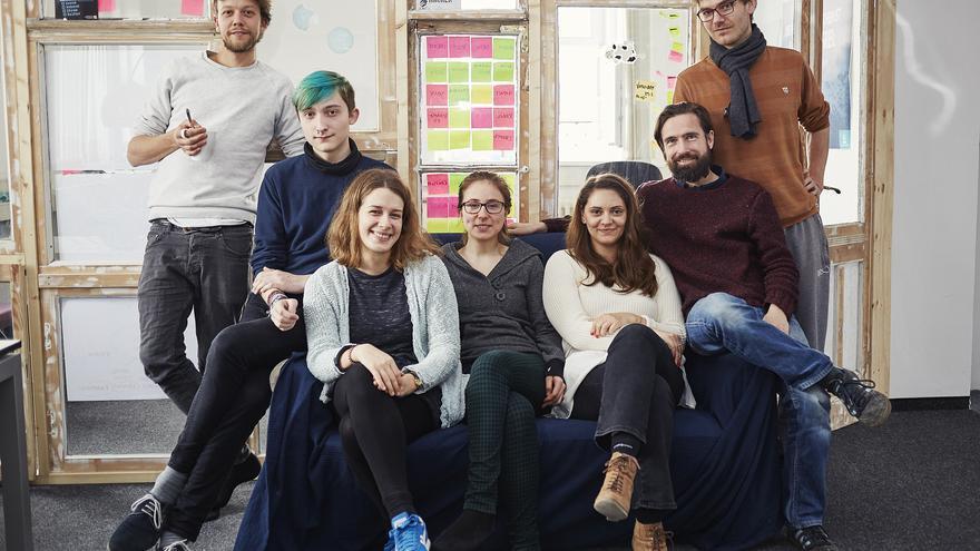Los promotores de Mein Grundeinkommen, un experimento de renta básica en Alemania. Foto: Me Chuthai