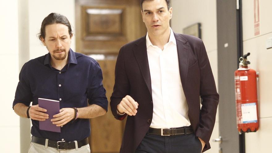 Pedro Sánchez y Pablo Iglesias acercan mañana posturas para hacer frente al PP con su primera reunión en más de un año