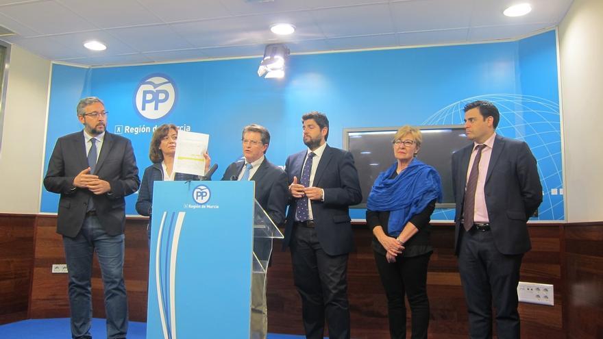 El PP avisa que no habrá dimisión, cese o sustitución de Pedro Antonio Sánchez porque no hay corrupción