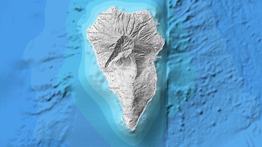 Movimiento sísmico de magnitud 1,5 frente a la costa de Fuencaliente