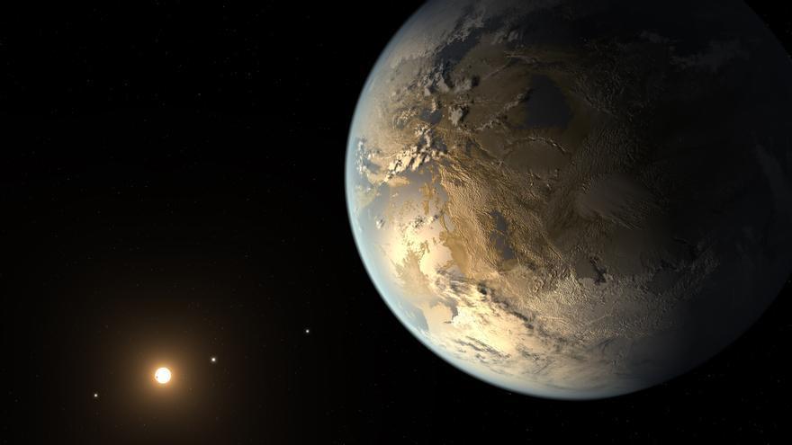 Representación gráfica del exoplaneta Kepler 186f - Autor: NASA Ames/SETI Institute/JPL-Caltech