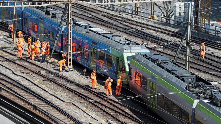 Al menos 27 heridos en un accidente de tren en el centro de Suiza