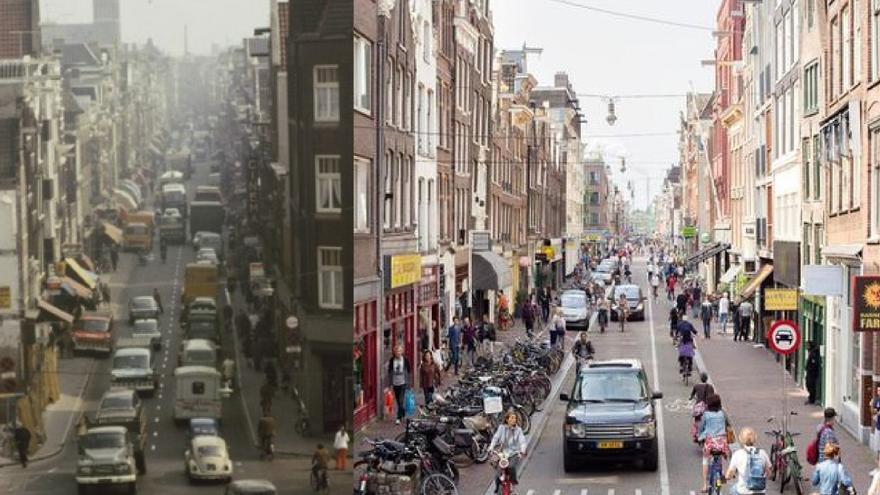 Esta imagen del antes y después de Ámsterdam demuestra que el cambio es posible si se superan las resistencias