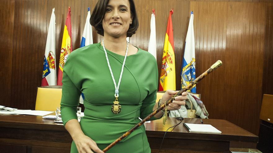 Gema Igual, nueva alcaldesa de Santander.   JOAQUÍN GÓMEZ SASTRE