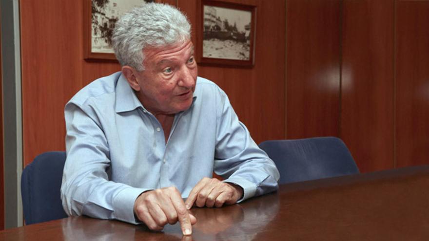 El diputado de Nueva Canarias en el Congreso y concejal en el Ayuntamiento de Las Palmas de Gran Canaria, durante una entrevista con Canarias Ahora.