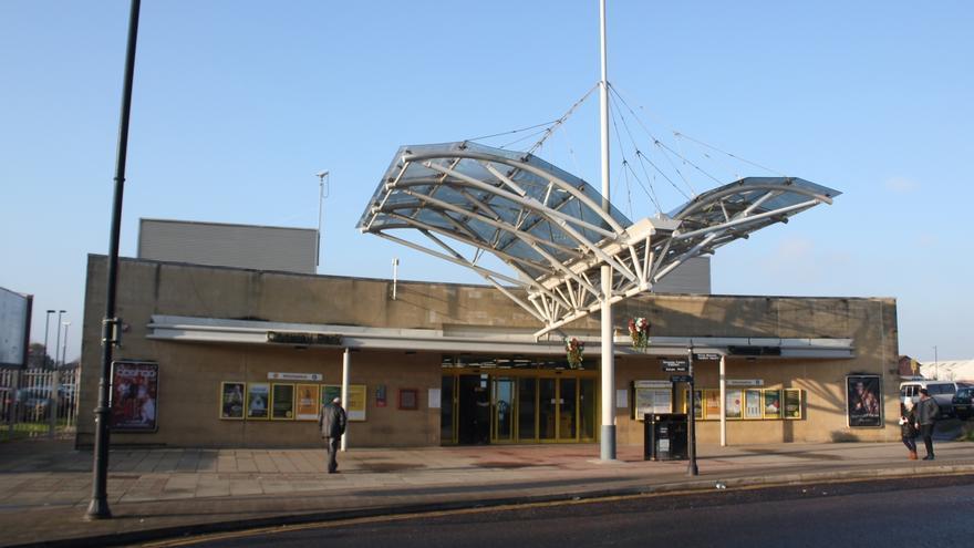 Estación de tren Conway Park en Birkenhead, Inglaterra.
