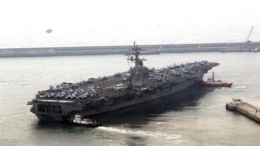 Seúl: El envío de portaaviones refleja la inquietud de Washington con Pyongyang