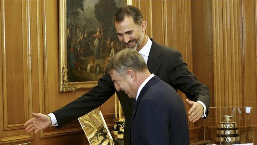 El Rey recibe al nuevo presidente de RTVE, José Antonio Sánchez