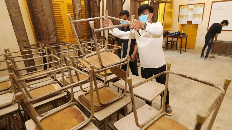 Camboya reabrirá las escuelas la semana que viene tras controlar la COVID-19
