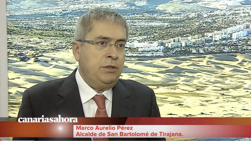 Marco Aurelio Pérez, alcalde de San Bartolomé de Tirajana.