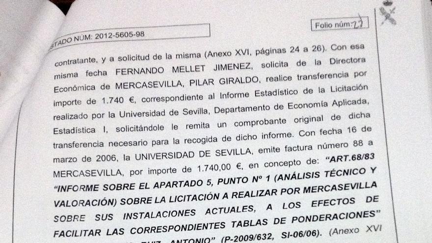 Informe Guardia Civil sobre caso Mercasevilla