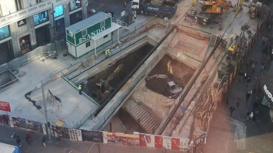 Estado de las obras en el metro Gran Vía | EZEQUIEL VILLAJOS (@zeque_lin)
