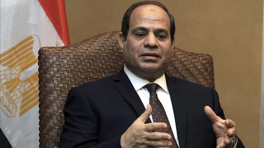 Al Sisi critica la llamada a una nueva revolución egipcia el 25 de enero