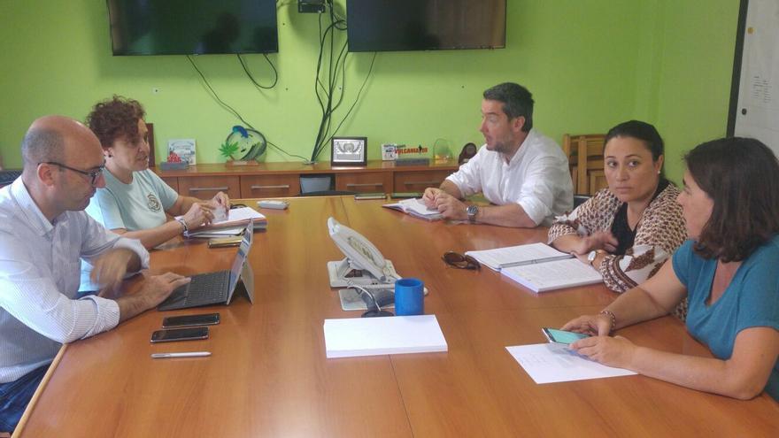 En la imagen, reunión celebrada este martes en el Cecopin.