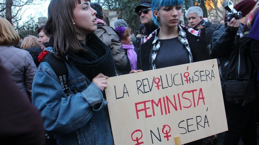 """""""La revolución será feminista o no será \ Foto: Marta Borraz"""