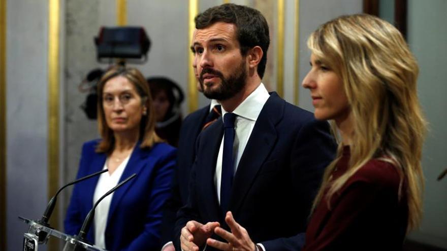 Casado avisa que PP no será nunca sustitutivo de ERC o Podemos para gobernar
