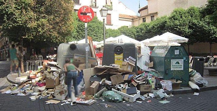 Aspecto de los contenedores de San Ildefonso en 2013 | SOMOS MALASAÑA