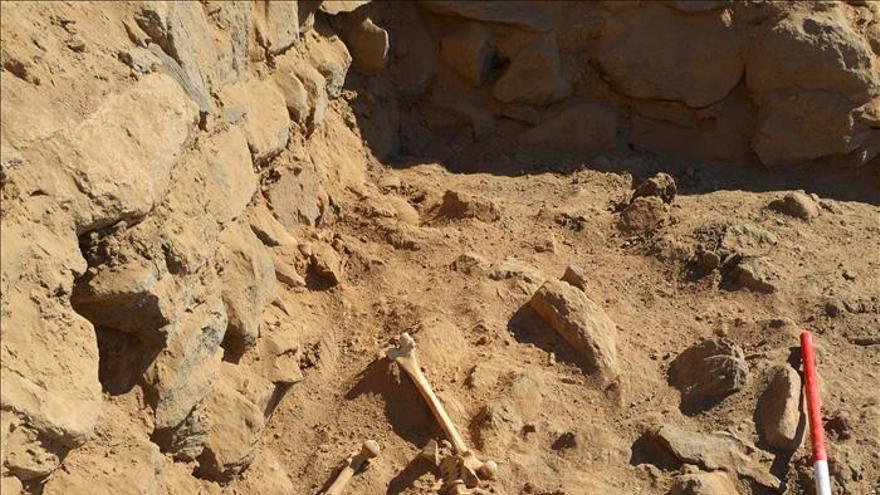 Hallan los restos de un soldado de origen nubio fallecido hace 1.400 años
