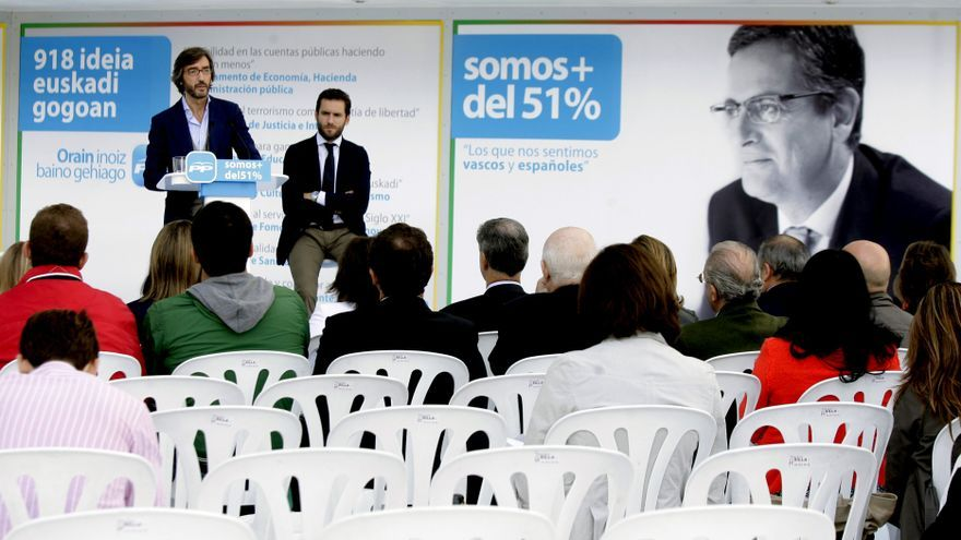Rajoy participa por primera vez en un acto de precampaña en el País Vasco