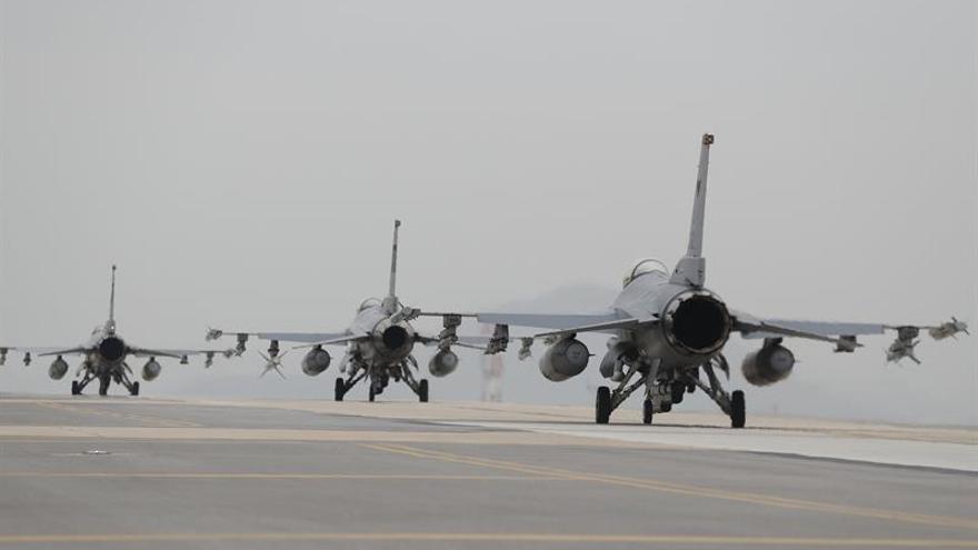 Seúl y Washington comienzan maniobras aéreas entre tensiones con Pyongyang