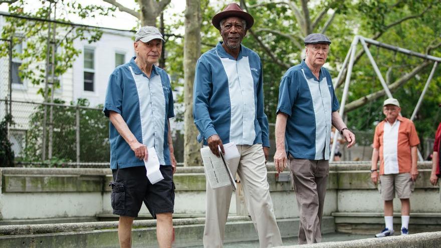 Fotograma del filme de EEUU, con el trío protagonista