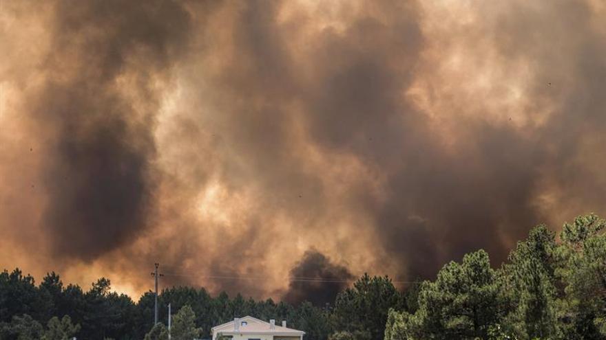 Más de 1.600 bomberos combaten cuatro grandes fuegos en el centro de Portugal