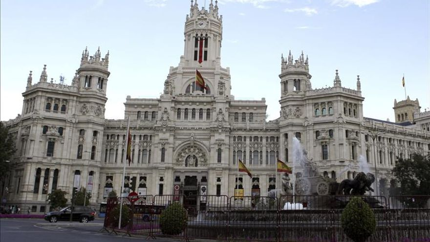 Exterior del Palacio de Cibeles, donde se encuentra el Ayuntamiento de Madrid. EFE/Archivo.