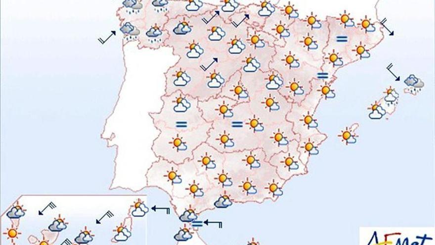 Lluvias y viento en Galicia, y fuertes precipitaciones en Menorca