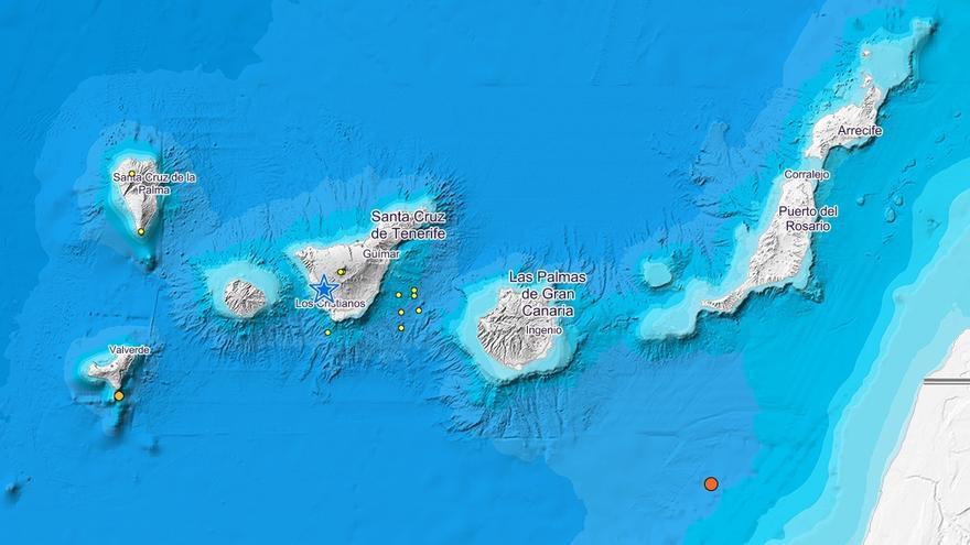 Últimos terremotos registrados por el IGN en Canarias