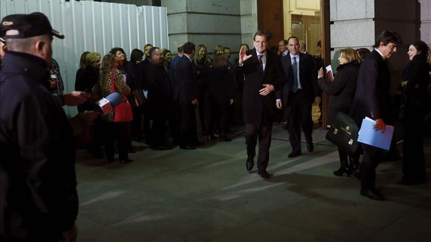 Rajoy asegura que se va contento del debate