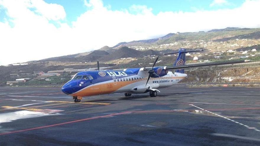 Avión perteneciente a la extinta compañía aérea Islas Airways. (Fotografía cedida a Europa Press).