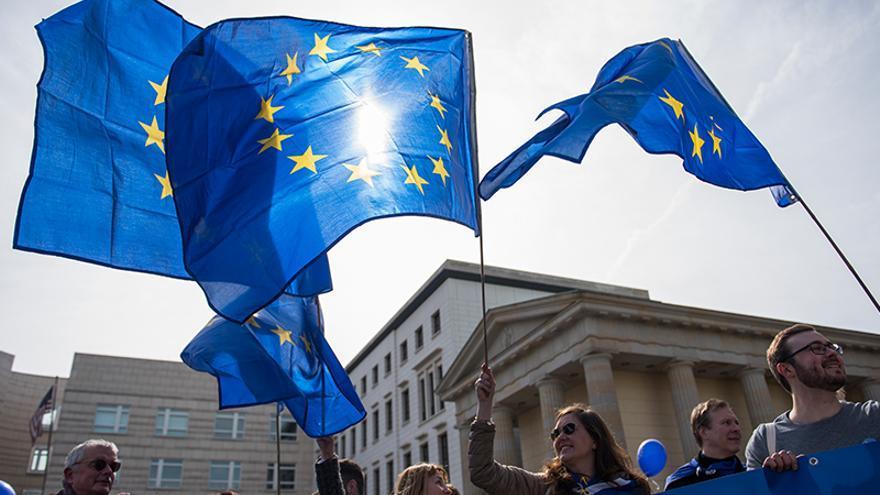 Marcha a favor de la Unión Europea en Berlín. Foto: Parlamento Europeo