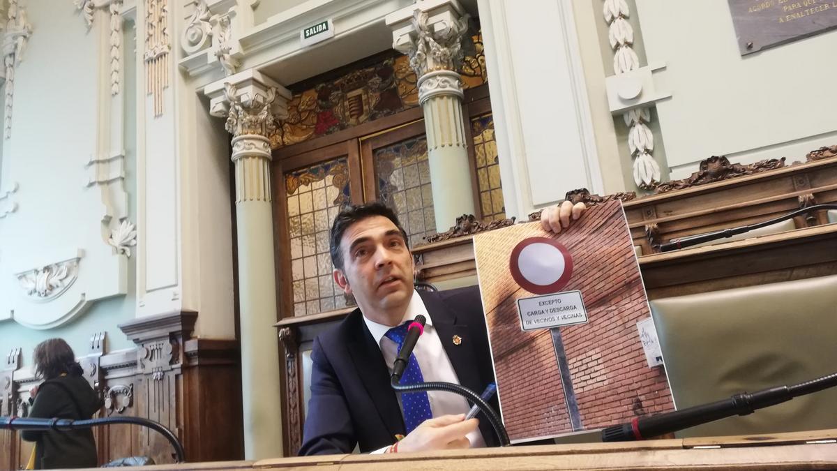 El único concejal de Vox en el Ayuntamiento de Valladolid, Javier García Bartolomé.