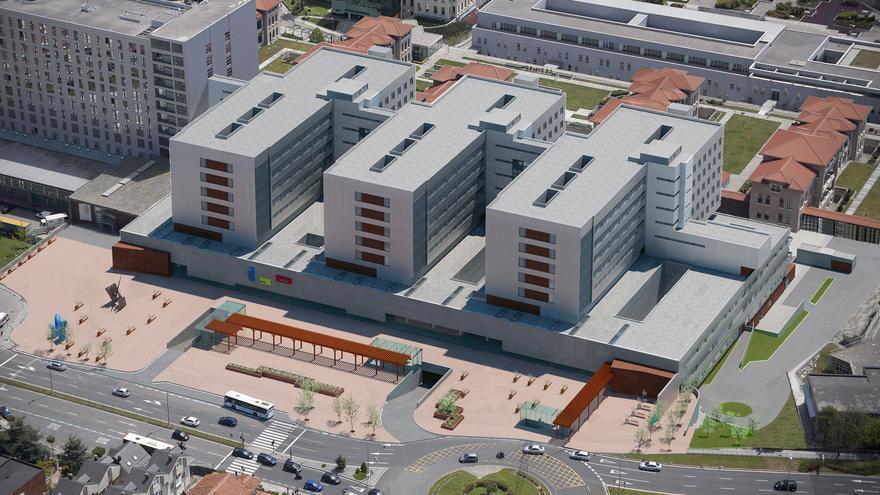 Infografía del proyecto de construcción de las Tres Torres del Hospital Universitario Marqués de Valdecilla.